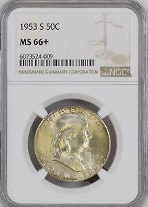 1953-S 50C Franklin Half Dollar NGC MS66+             6073524-009