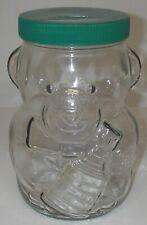 Kraft Peanut Butter Glass Jar BANK NHL Stanley Cup Teddy Bear Advertising