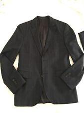 Hugo Boss 38r Johnstons 1 Lennon Mens Slim Fit Navy Blue Plaid Check Suit