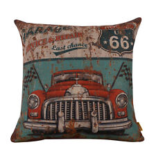 45cm Rusted Vintage Red Garage Route 66 Old Red Car Cushion Case Pillow Shams