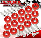 Universal VIP M6X20 Engine Hood Fender Washer Bolt Billet Anodized Red 15 Pieces photo