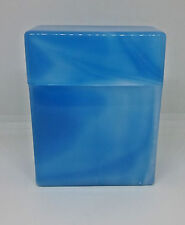 Fujima Teal Blue King Size Flip Open Cigarette Case - Holds 30 Cigarettes!