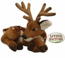 DEER WITH ANTLERS - HQ LIVING NATURE REALISTIC PLUSH SOFT FLUFFY ANIMAL TEDDY