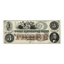 *jcr_m* USA - 1850´s-60´s $3 DOLLARS CORN EXCHANGE BANK, WISCONSIN *UNC*