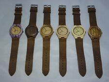 Wooden Case Round Wristwatches