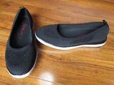NEW ED Ellen DeGeneres Afuera Ballet Flats Shoes WOMENS Black Knit $98.00