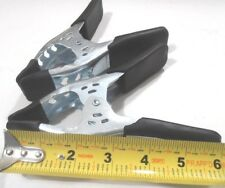 """Lot Of (2) 6"""" Inch Heavy Duty Metal Spring Clamp Black"""