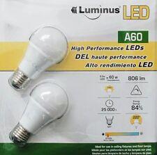 4 X A60 LED Conglom videoconsolas con base de tornillo E27 9.5W 2700K Bombillas Regulable