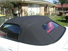 HONDA S-2000 BLACK VINYL SOFT TOP 2000-2001 GLASS TINTED WINDOW - NO DEFROSTER