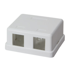3x Keystone Aufputz Leergehäuse Leerdose Modular 2 Port UTP für 2x Keystone Jack