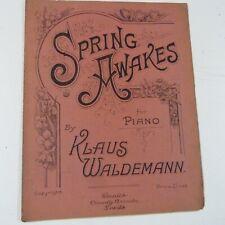 piano music KLAUS WALDEMANN spring awakes , 1922, 7pp