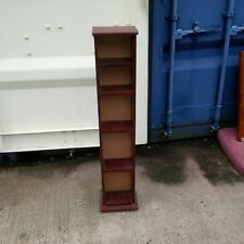 Mahogany effect cd rack/storage unit. used but in good condition 8.5w x 6d x 43h