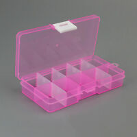 NEW 10 Grid Compartments Jewel Bead Case Cover Box Storage Container Organizer