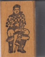 "lobstermn zumgali Wood Mounted Rubber Stamp 1 x 2""  Free Shipping"