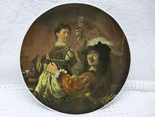 Sammelteller BAREUTHER - Rembrandt und Saskia - Wandteller - 1A Zustand