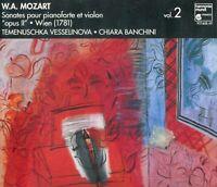 """W.A. Mozart-Sonates Pour Pianoforte Et Violon """"Opus II"""" DOUBLE CD"""