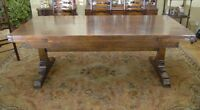 Oak Refectory Table - Farmhouse Kitchen Diner Extends to 10 Feet