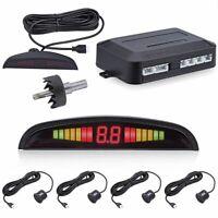 Kit de alarma Pantalla LCD Auto Reverse Radar System 4 sensores de aparcamiento