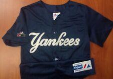 Vintage MLB Majestic New York Yankees Baseball Bernie Williams Boys Jersey M