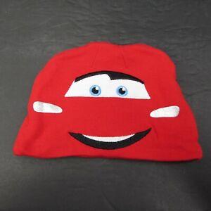 Disney Baby Lightning McQueen Red Cars Infant Beanie Hat 9 Months Halloween