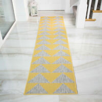 Long Runner Yellow Cream Geometric Flatweave Indoor Outdoor Large Kids Cheap Rug