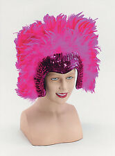 PINK Feather HEADDRESS Las Vegas Show Girl Moulin Rouge Burlesque Costume