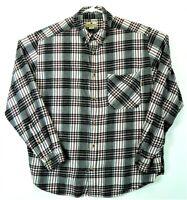 Very VTG WOOLRICH Cottonl Plaid Flannel Shirt Work Wear Hunting Men's  Size XXL