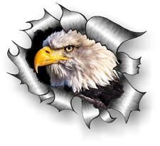Clásico rasgada abierto Rasgado Metálica de extracción y Águila Americana Vinilo Coche Pegatina Calcomanía