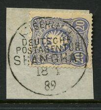 CHINA GERMAN P.O 1886 20pf VFU 1889 SHANGHAI FULL POSTMARK SGZ5