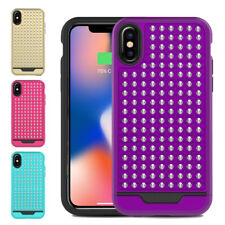 Glittering Star Studded Dual Layered Case Shockproof Cover for iPhone X / XS