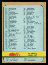 1972-73 OPC O PEE CHEE #334 CHECKLIST UNMARKED EXCEPT 1 SPOT EX-NM WHA 210-341