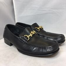 Coach PATTERSON Mens Slip On Loafer Size 9 D Black Gold Upper ITALY