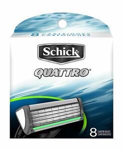 Schick Quattro For Men Refill Razor Blade Cartridges, 8 Count