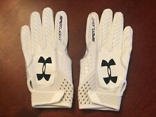 Under Armour Spotlight NFL ADULT Receiver Medium White Football Gloves NWT