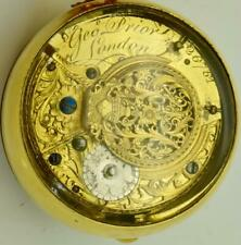 18k gold plated Verge Fusee Demonstrator case George Prior watch.Ottoman c1780