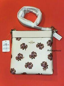 NWT Coach 79686 Kitt Floral Print Messenger Crossbody Bag Purse Chalk Multi