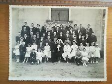 Réf 33 ancienne photo cartonnée Studio mariage groupe