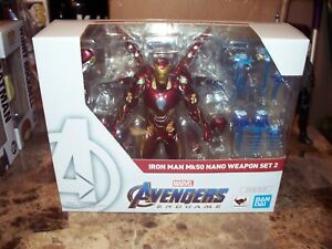 Bandai Tamashii Nations S.H. Figuarts Marvel Iron Man Mk50 Nano Weapon Set 2