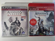 Assassin's Creed PlayStation 3 Lot- AC Revelations and Assasins 3- PS 3 Games