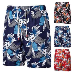 Men's Swimming Board Hawaii Shorts Drawstring Trunk Swim Beach Holiday Pants UK