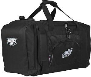 Philadelphia Eagles Premium Embroidered Duffel Bag Black Roadblock Design