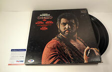 PLACIDO DOMINGO THREE TENORS SIGNED OTELLO VINYL RECORD ALBUM PSA/DNA COA