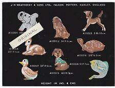 ZOOKIE ZANY ZOOKIES JH WEATHERBY FALCON WARE POTTERY STAFFS STAFFORDSHIRE DESIGN