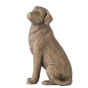 Willow Tree 27683 Love My Dog Dark Brown Pet Figurine