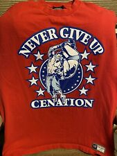 John Cena WWE Never Give Up Cenation U Can't C Me T Red T-Shirt Size XL