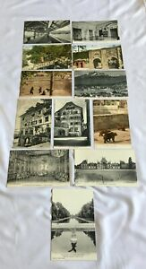 Vintage Job Lot Postcards Late 1800's Early 1900's Fontainebleau Bern Gibraltar