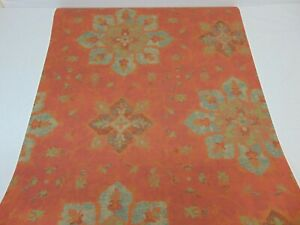 VTG DOUBLE ROLL WALLPAPER RONALD REDDING STARS SNOW FLAKES ABSTRACT RED
