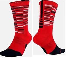 Nike Elite Cushioned Crew Socks Sx7010-657 Red Youth 3Y-5Y Wm 4-6 Nwt
