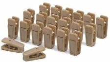 20pcs Camel Finger Clips with smooth edges no metal parts for slimline hangers
