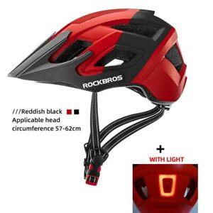 ROCKBROS Bicycle Helmet LED Light Recharge Cycling MTB Road Bike Helmet 57-62cm